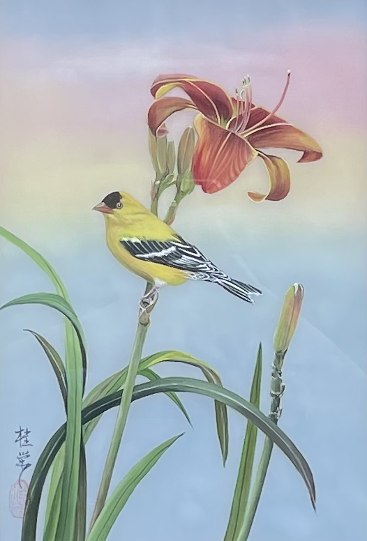 Daylily & Gold Finch