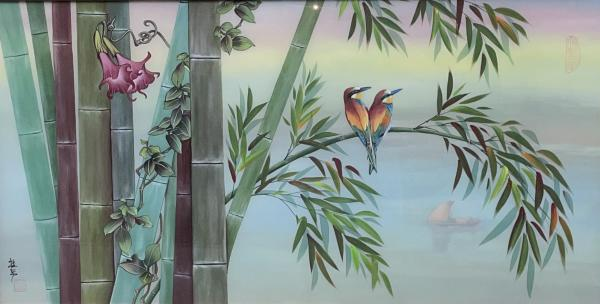 Bee-Eater in Bamboo