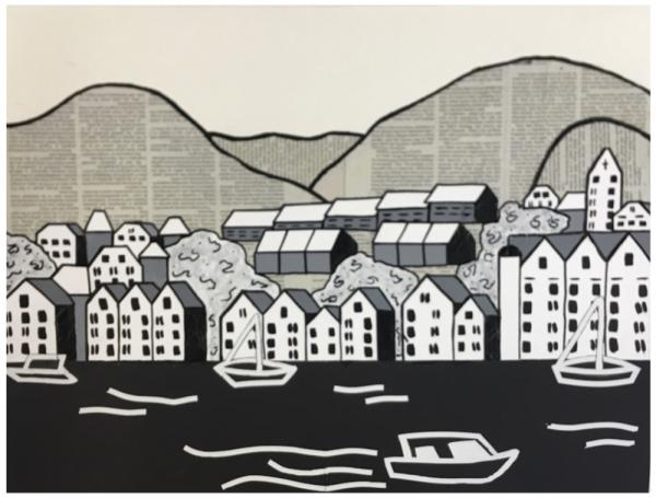"""Bergen in Black and White""  by Andrea R"