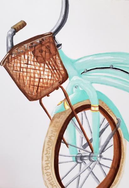 """Teal Bike"" by Erin W"