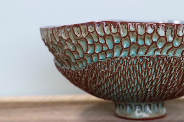 Layered Small Bowl in Tahitian Blue