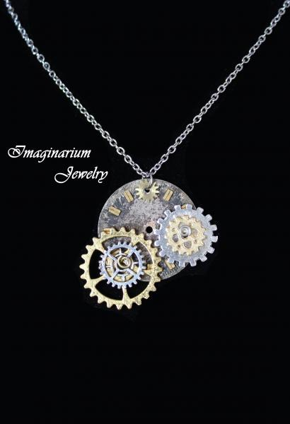Gear Necklaces With Spinning Gears