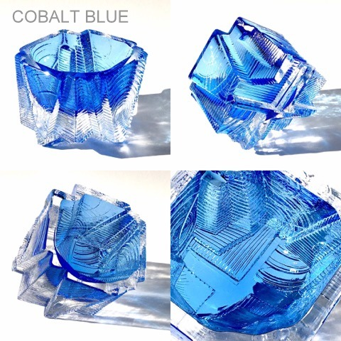OUTSIDE IN SCULPTURAL BOWL/COBALT
