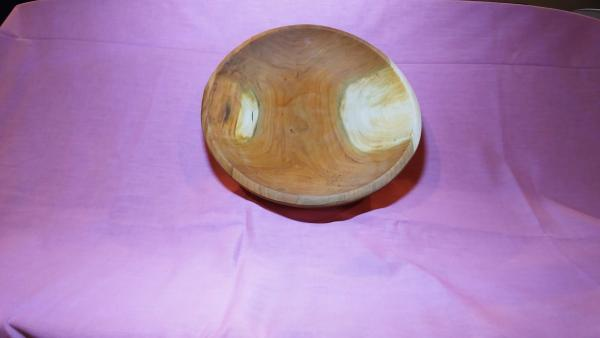 Cherry round wooden bowl