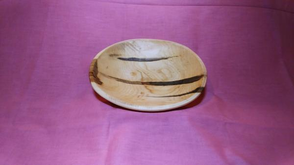 Small oval maple bowl