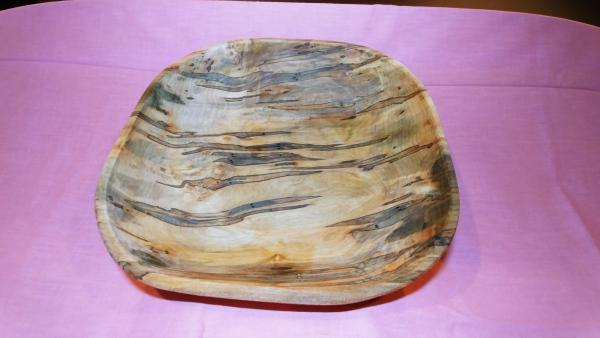 Large square ambrosia maple bowl