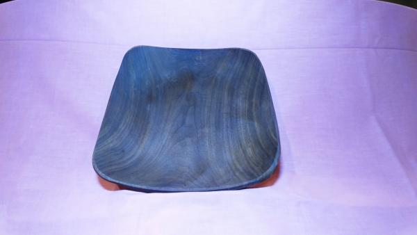 Square cut off walnut bowl