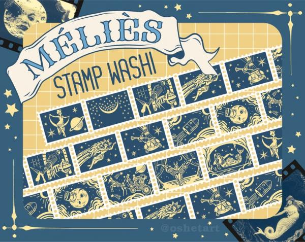 Méliès Stamp Washi