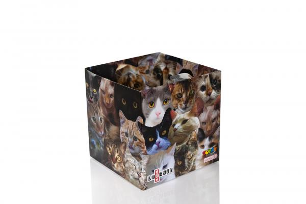 Cats 7.75 x 7.75 x 7.7 Inch Flat Empty Gift Box