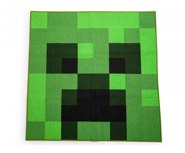 Minecraft Green Creeper 52 Inch Square Area Rug