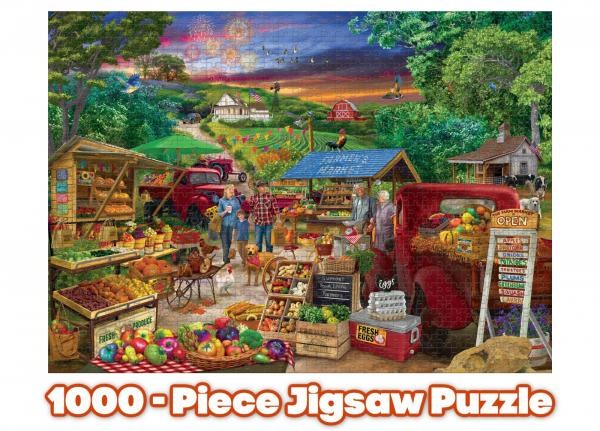 Farmer's Market 1000 Piece Jigsaw Puzzle picture
