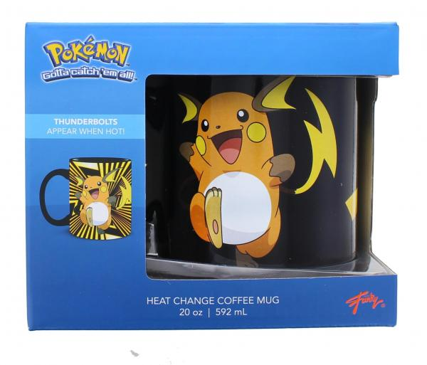 Pokemon Pikachu Evolution 20oz Heat Change Coffee Mug picture