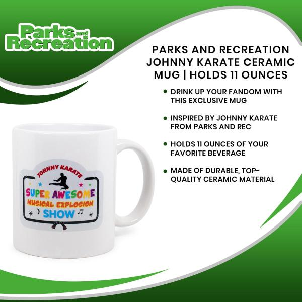 Parks and Rec Johnny Karate 11 Ounce Ceramic Mug picture