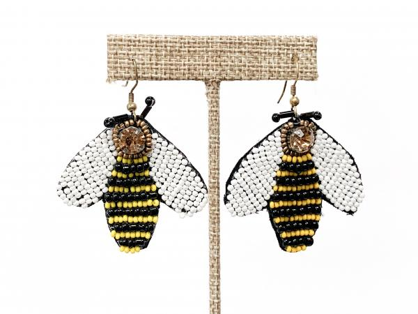 Beaded Bee Earrings