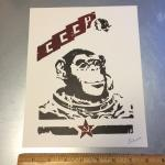 Space Monkey screenprint
