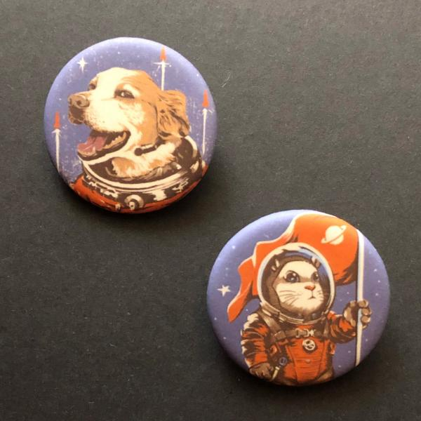 Space Dog & Hamster buttons picture