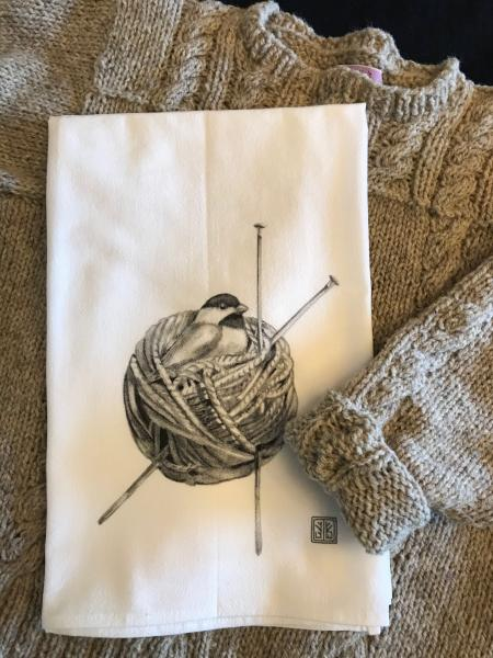 TEA TOWEL YARN BIRD picture