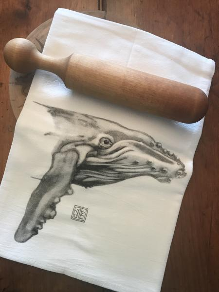 TEA TOWEL WHALE
