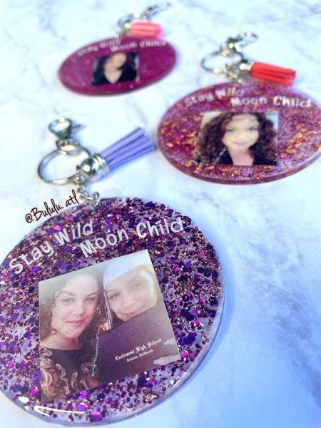Photo and Quote Keychain | Purse Pendant