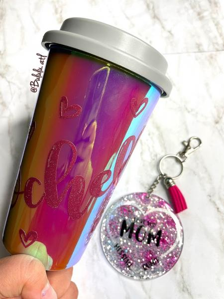 Coffee Cup and Keychain Combo