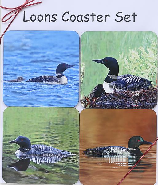 Loon coaster set