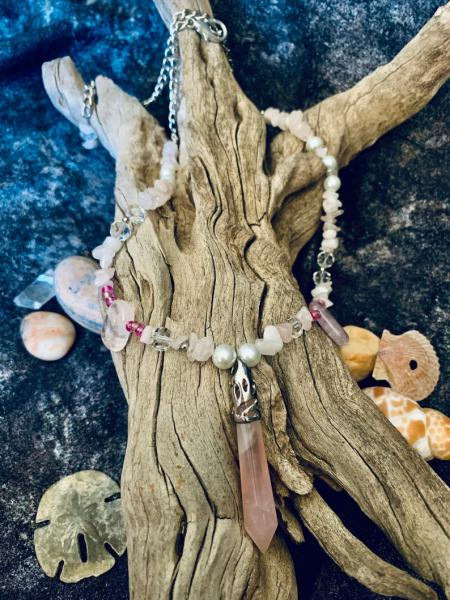 Rose Quartz Necklace (one of a kind) picture