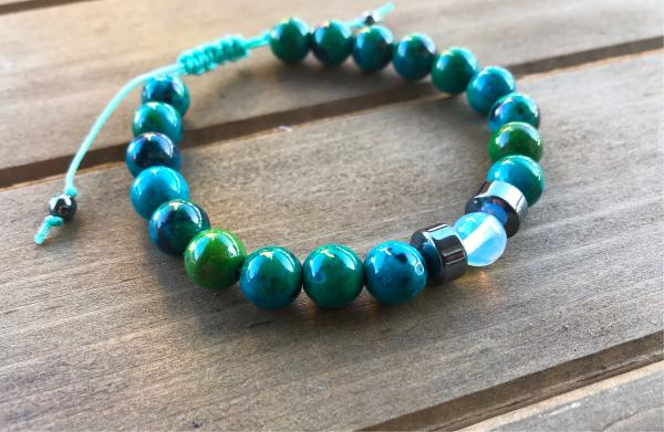 Chrysocolla and Opal  Bracelet | Communication and Inspiration picture