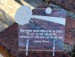 "Quotable Carrie Fisher ""End Of My Personality…Lay In Sun"" 4.5 Inch Tall Acrylic Desk Sign"