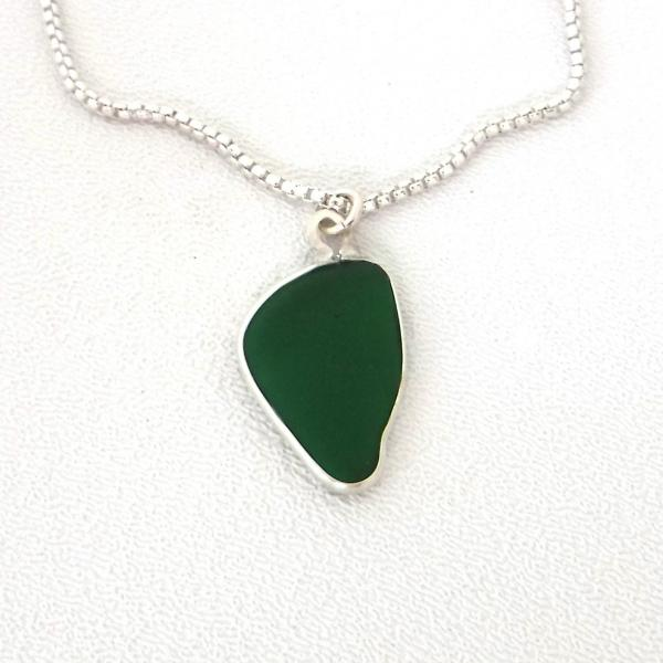 Jade Green Sea Glass Necklace