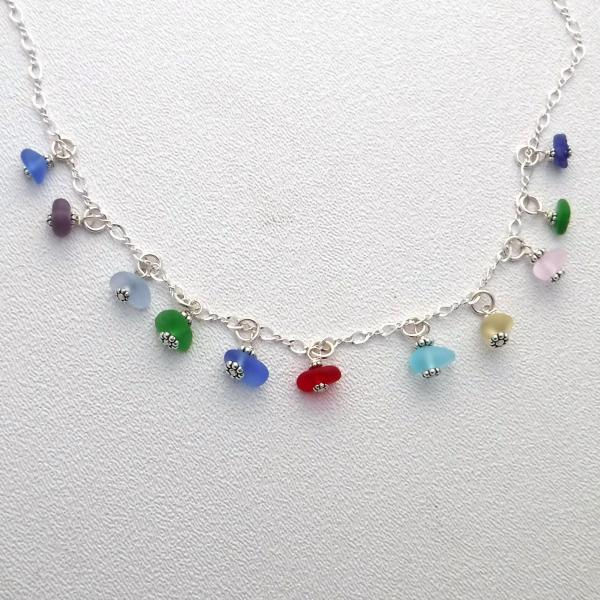 Rainbow Sea Glass Necklace picture