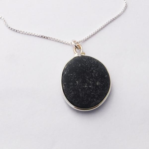 Unique Black Sea Glass Necklace