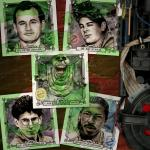 Build-A-Bundle Ghostbusters 6 x 6 Character Mini-Prints • Peter, Ray, Egon, Winston, Slimer • Hand-Drawn Giclee Art Print