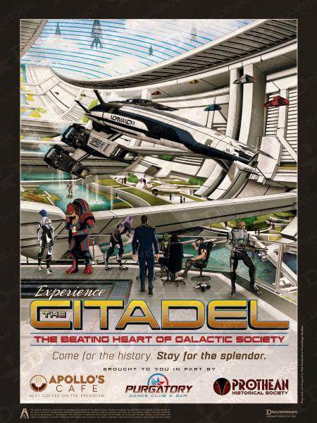 "Mass Effect ""Experience the Citadel"" Travel Poster 9"" x 12"" & 11"" x 17"" picture"