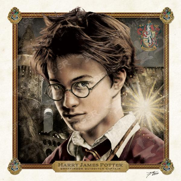 "Harry Potter Limited Edition Print Art 6"" x 6"" Mini Hand Drawn Wizarding World Fan Art • Limited Giclée Print picture"