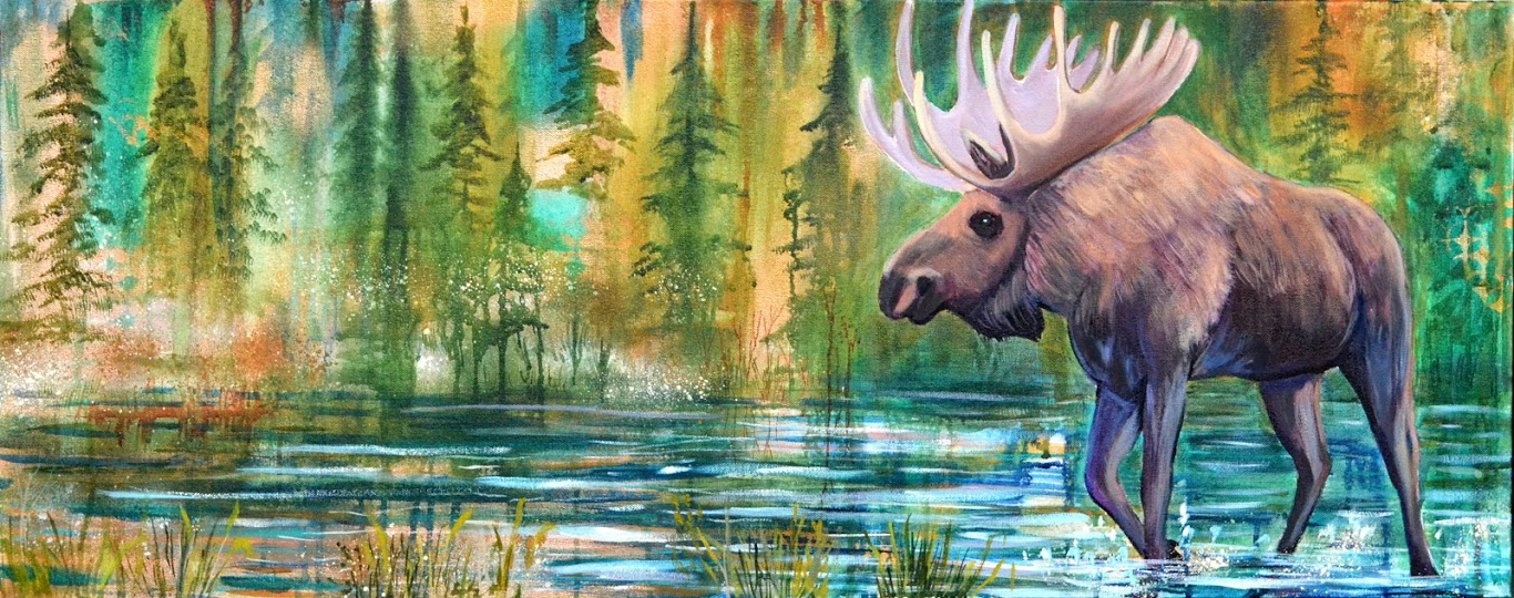 Moose Painting picture