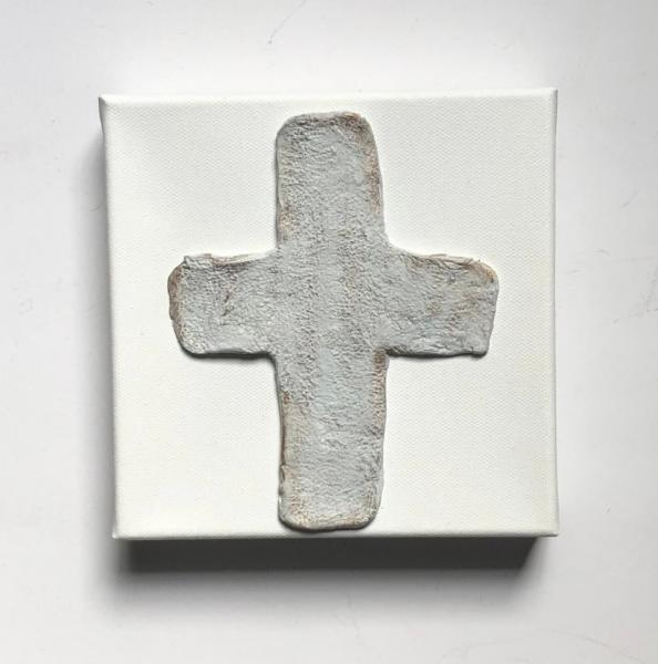 Clay Textured Cross on Canvas