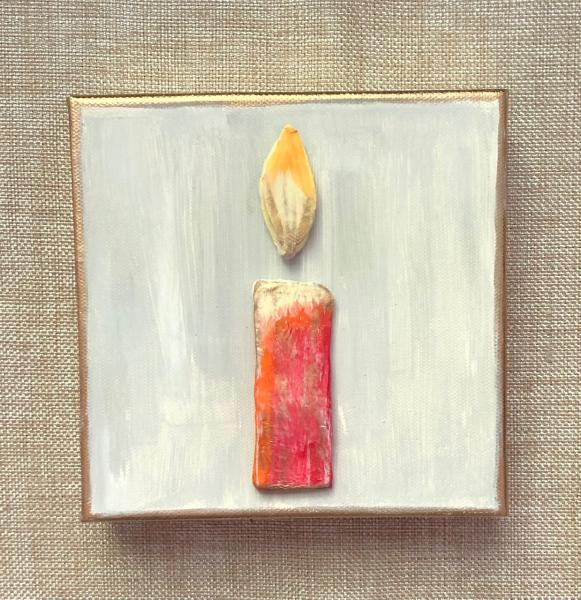 Clay Candle on Canvas