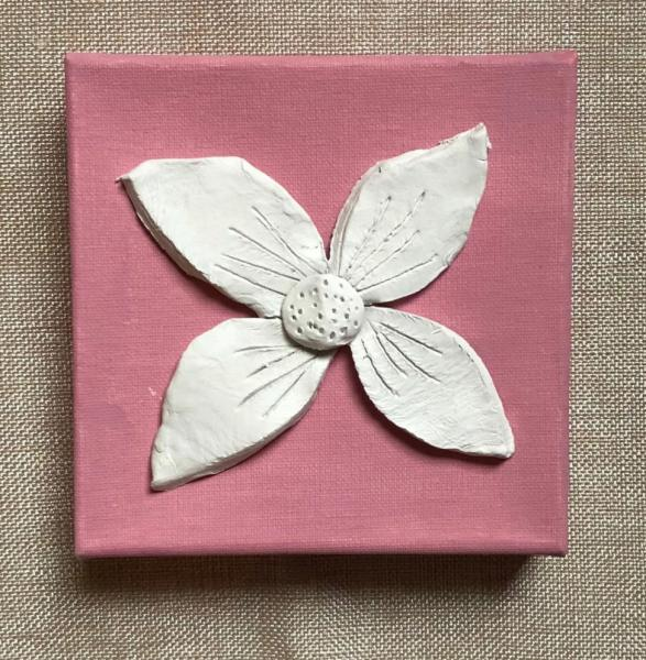 Clay Flower on Canvas