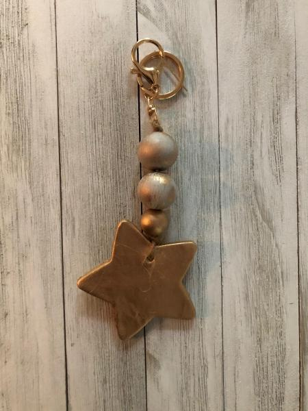 Beaded Star Keychain