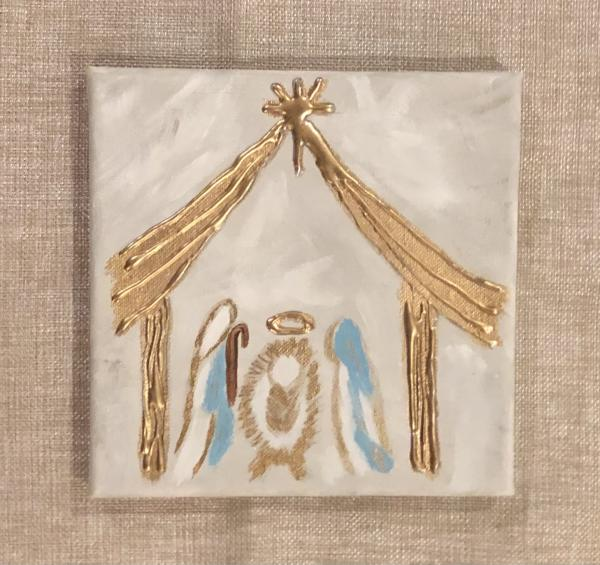 Nativity Scene on Canvas picture