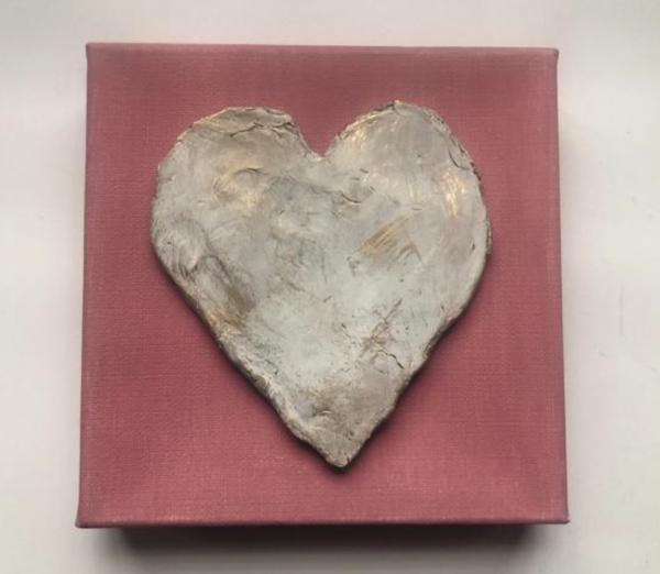 Clay Heart on Canvas picture
