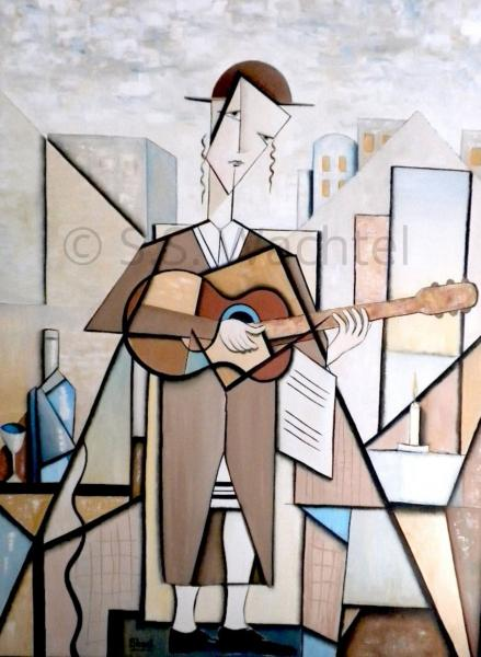 Man with a Guitar. The Hassid