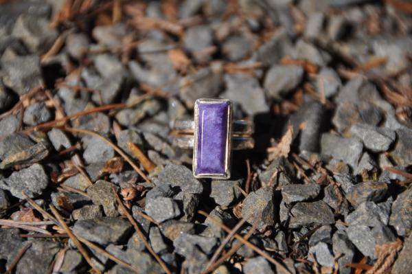 Rectangle Chaorite Sterling Silver Ring picture