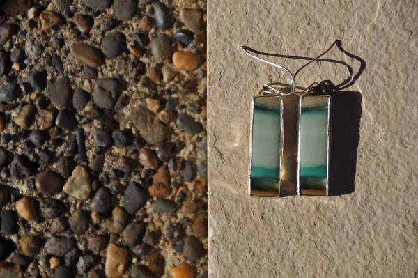 Rectangle Opal Sterling Silver Earrings picture