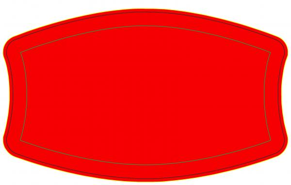 Plain Red Cloth mask With filter pocket