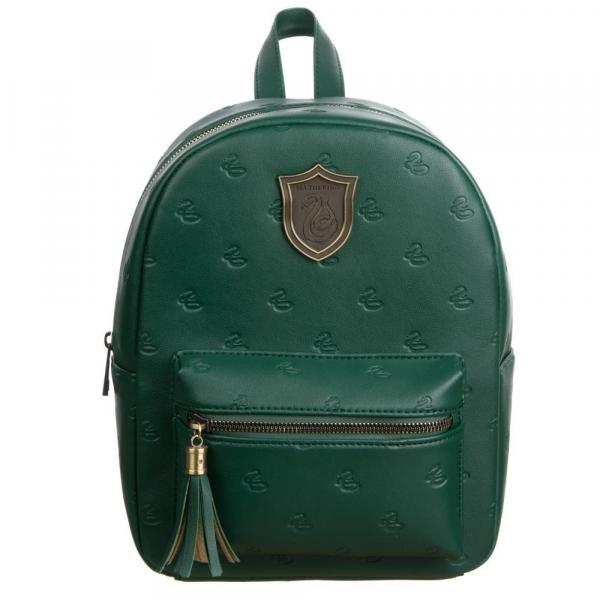 Small Leather Slytherin Backpack
