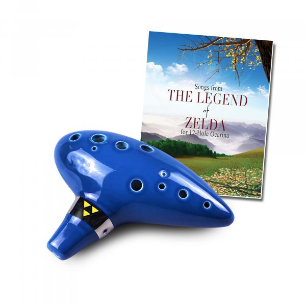 12 Hole Tenor Ocarina with Zelda Songbook
