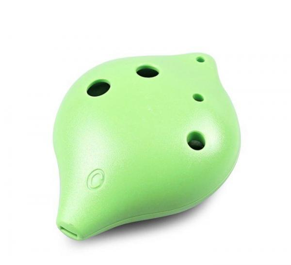 6 Hole Plastic Ocarina in C Major for Beginners (green)