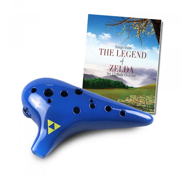 Plastic 12 Hole Ocarina with Zelda Songbook