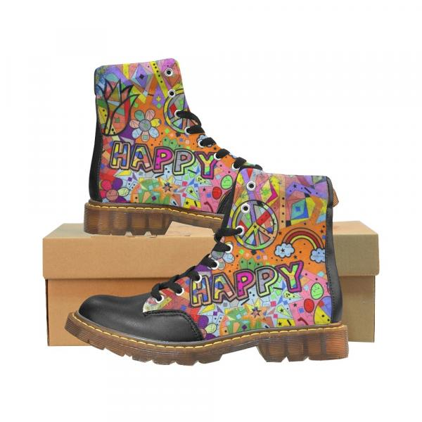 Happy Popart by Nico Bielow Boots for Men